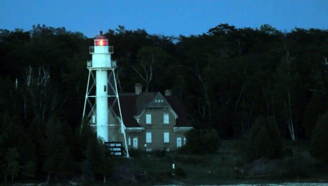 The Plum Island lighthouse.