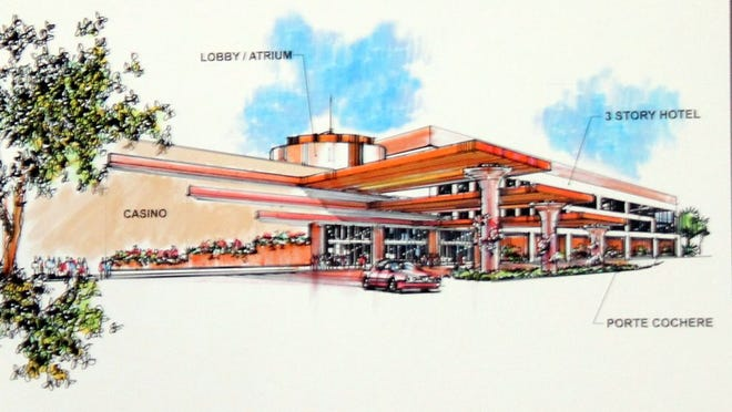 A rendering show's what the Timbisha Shosone tribe's casino might look like once built.