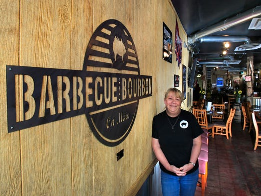 Marcia Huff owns Barbecue and Bourbon on Main with her husband Dave. The restaurant, at 1414 Main St. in Speedway, opened four months ago.
