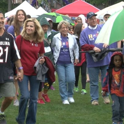 Hundreds of students from USC braved the rain to raise