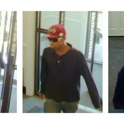 Police said these three suspects robbed a PNC Bank