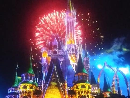 Fireworks are a big part of nighttime celebration at Disney's Magic Kingdom.