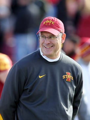 Iowa State football coach Paul Rhoads