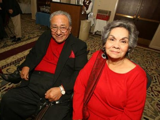 Former state Rep. Paul C. Moreno is shown with his longtime friend, former El Paso County Judge Alicia Chacon.