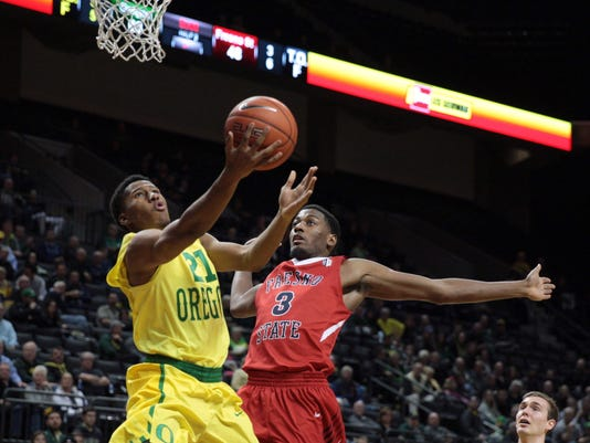 NCAA Basketball: Fresno State at Oregon
