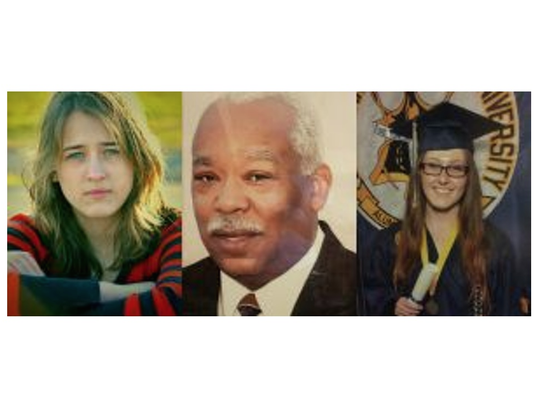 Seventeen-year-old Hannah Eimers, of Lenoir City (left), Wilbert Byrd, 69, of Detroit and Lauren Beuttel, 21, of Johnson City, are three of the people who have died when their vehicles crashed into Lindsay X-LITE guardrail ends.