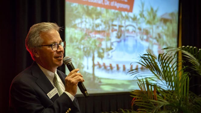 Honda Classic executive director Ken Kennerly speaks at Media Day before the 2020 Honda Classic at PGA National Resort and Spa in Palm Beach Gardens, Feb. 11, 2020.