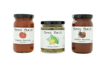 Condiments from First Field, a Princeton-based food company.