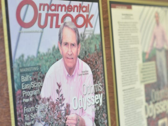 Country Pines Nursery's founder Richard Odom featured in a magazine.
