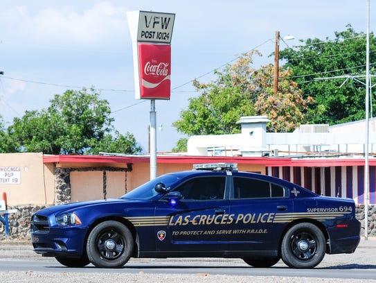 Las Cruces police investigate a report of a suspicious