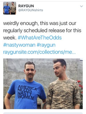 Raygun is out with a new shirt mocking a viral moment in the final presidential debate.