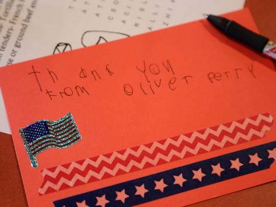 A thank you note written by Oliver Perry. Perry made