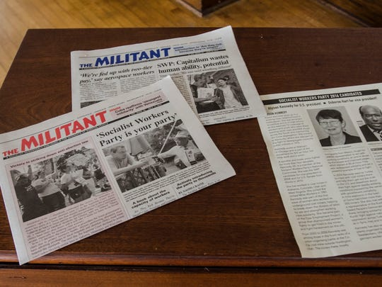 """""""The Militant"""" described as a """"socialist news weekly published in the interests of working people""""."""