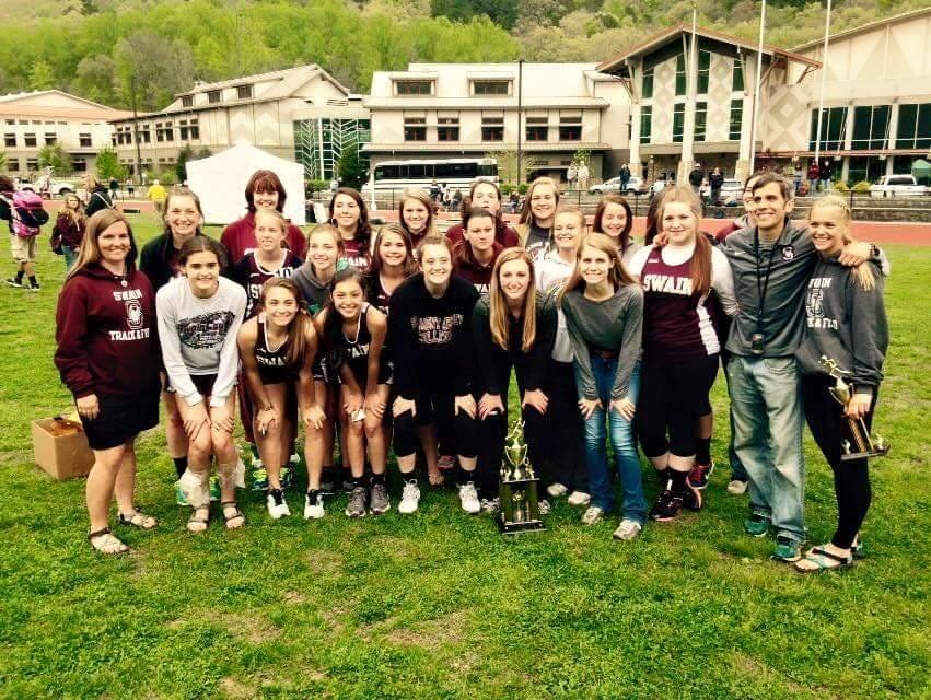 The Swain County girls track team.