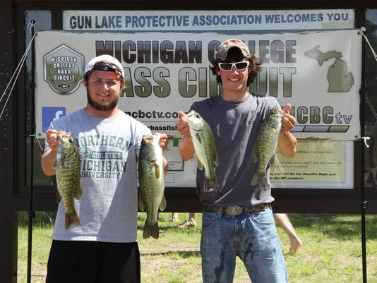 mcbc mich college bass circuit gun lake 2015