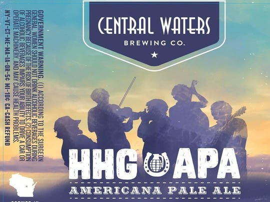 HHG APA, named for the Stevens Point-based band Horseshoes & Hand Grenades, is a new beer being offered by Central Waters Brewing Co.