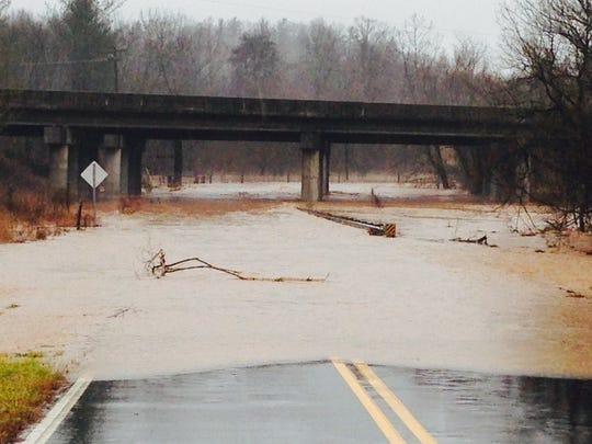 South Creek Road in Nebo in McDowell County.
