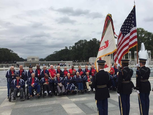 "A group of northeastern Louisiana veterans visited Washington last year as part of Brookshire's ""Heroes Flight"" program."