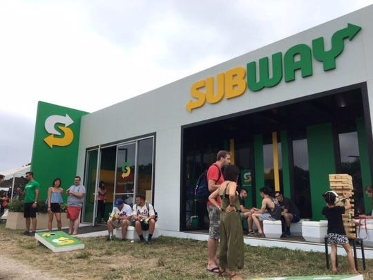Subway has opened an air-conditioned shop in The Woodlands,