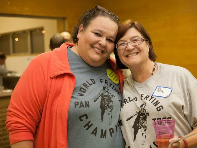 Kelly Pflanzer (left) kept her close friend, Peggy