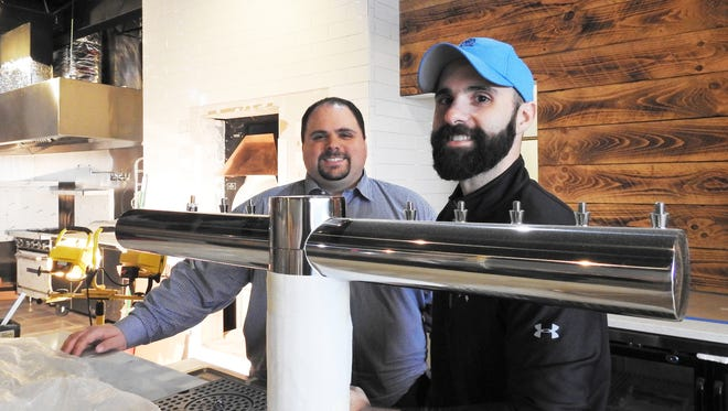 Anthony and Vincent Russo are opening Russo's Wood Fired Pizza on Maple Avenue in March.
