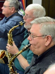 Jhon Mohr of Springettsbury Township plays in the saxophone
