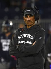 Nevada head coach Jay Norvell prepares to take on Hawaii