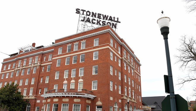 The Stonewall Jackson Hotel and Conference Center located at 24 South Market Street downtown Staunton.