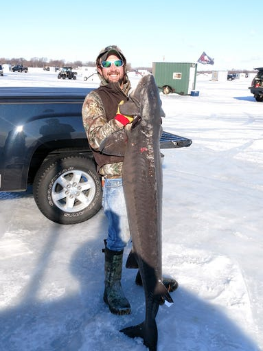 Josh Prellwitz of Neenah with this 107-pound, 73 inch