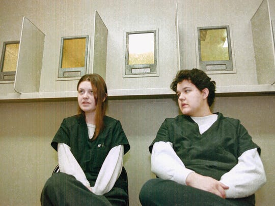 File photo: Natasha Cornett, left, and Crystal Sturgill