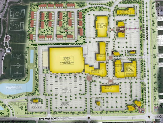 A view of the Village at Northville mixed use Planned