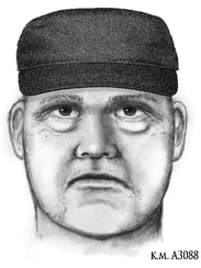 A police sketch of the man suspected of killing psychiatrist Steven Pitt on May 31, 2018, in Scottsdale, Ariz.