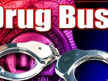 Six arrested or detained in drug raid