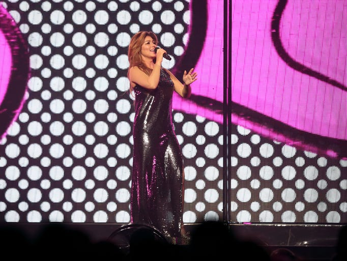 Shania Twain performs at the Denny Sanford Premier