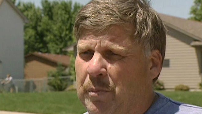 This frame shows Former South Dakota police chief Russell Bertram.  Bertram claimed his young fiancee was shot and killed in a tragic 2009 hunting accident.  But state prosecutors are saying the truth was far more sinister. Bertram is charged with first-degree murder in the death of 26-year-old Leonila Stickney and will stand trial in February 2016.