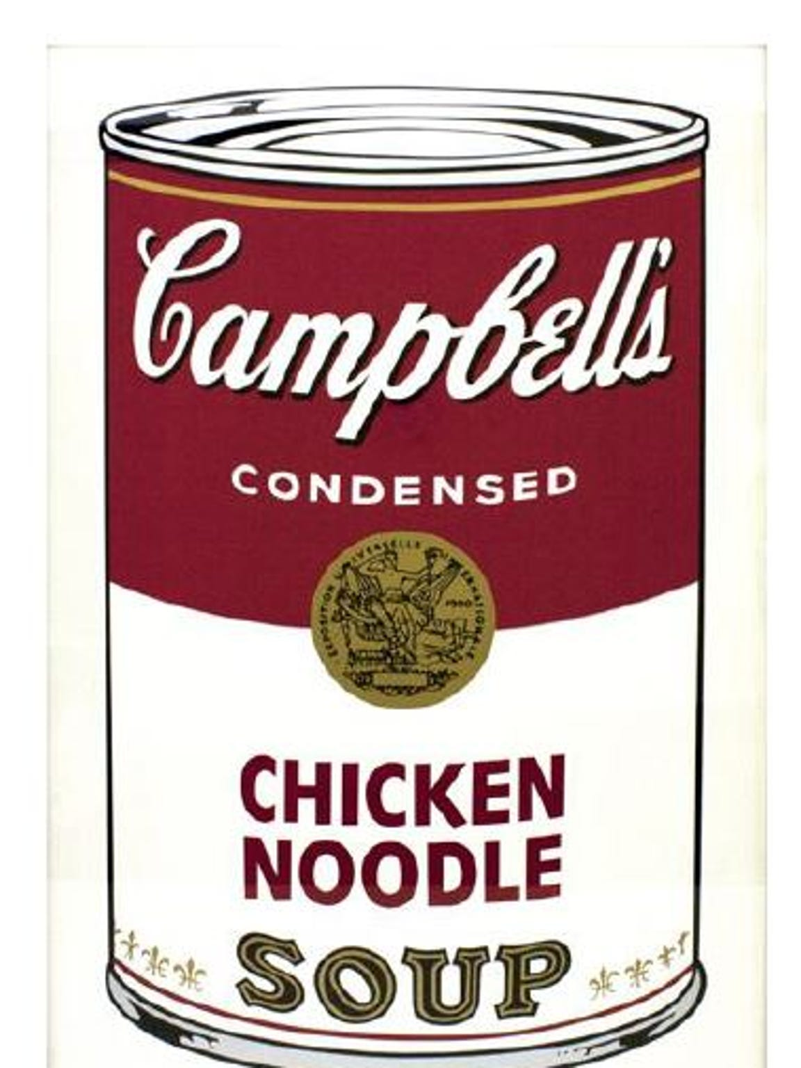 Campbell's Soup I (Chicken Noodle), one of the prints stolen from the Springfield Art Museum