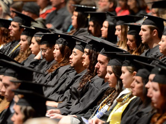 University of Wisconsin-Green Bay holds the the mid-year commencement ceremony at the Weidner Center on Saturday.
