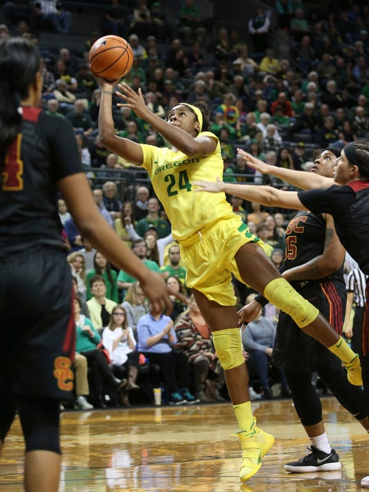AP USC OREGON BASKETBALL S BKW T25 USA OR