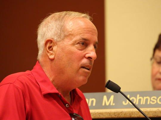 Charles Yanni, Bonita Springs, spoke out against the