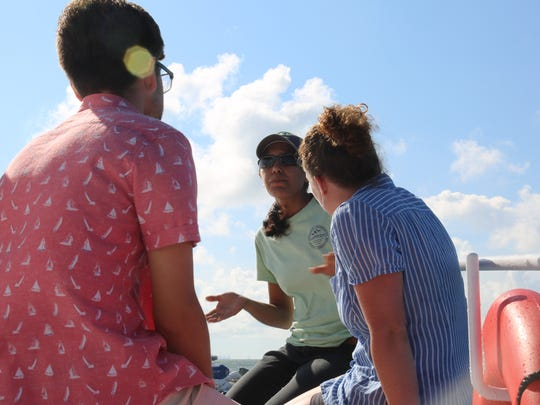 Students observing and researching water quality along Louisiana's coast back in September.