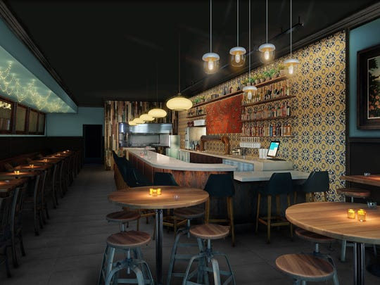 A rendering of the new Tupelo Honey space in downtown Asheville.