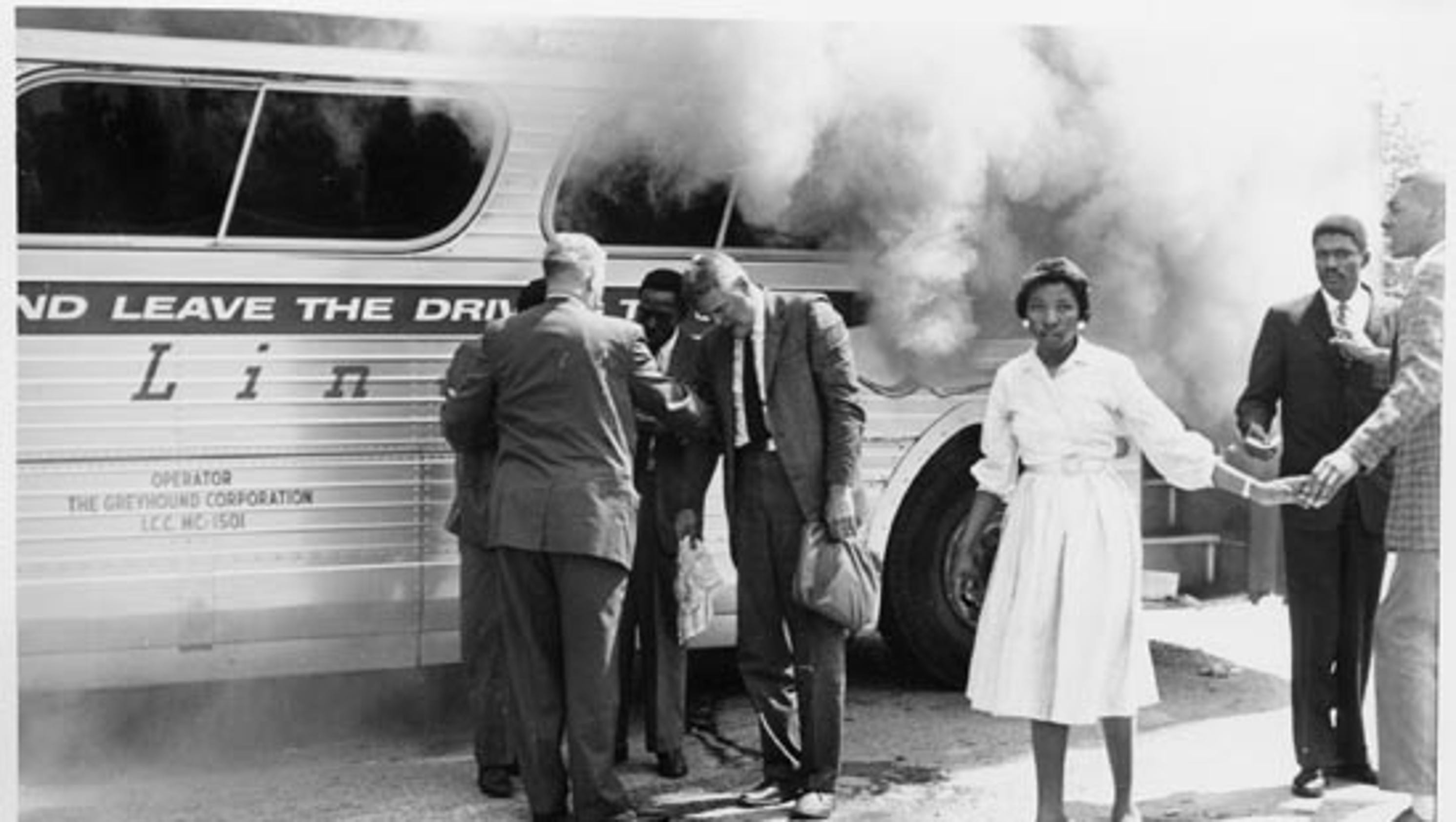 the freedom riders Freedom riders forewarned by birmingham civil rights leader fred shuttlesworth of possible attacks in alabama, the groups pressed onward on.