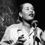 Jazz singer Billie Holliday is shown in this 1949 photo.