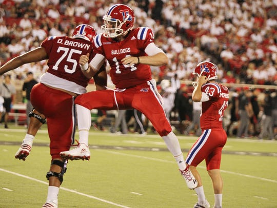 Louisiana Tech quarterback Ryan Higgins once played