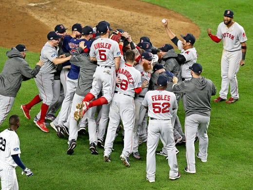 MLB playoffs: Red Sox punish Yankees at home to advance to ALCS