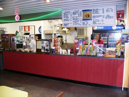 The Stardust Twin Drive-In's concession area offers everything from pizza and burgers to iced coffee and soft-serve ice cream.