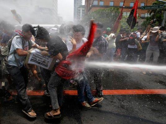 APTOPIX Philippines Anti Obama Protest