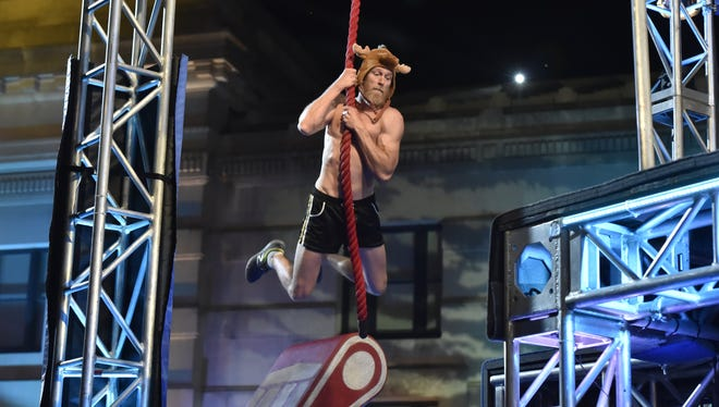 "Cape Coral teacher Morgan Wright competes on Monday night's episode of ""American Ninja Warrior."""