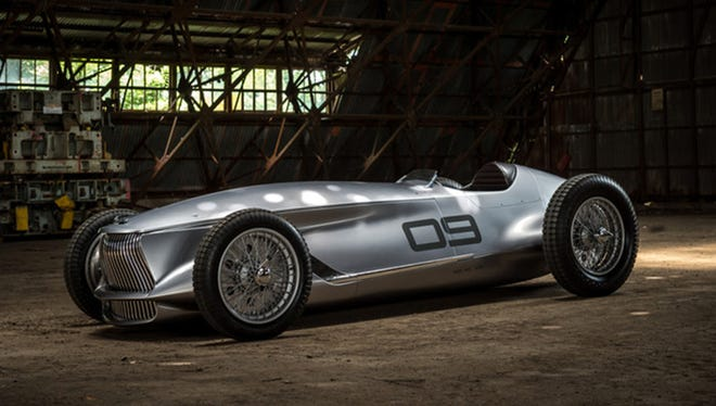 Infiniti's Prototype 9 is designed to look like a race car from the 1940s -- long before parent company Nissan was building race cars. (Infiniti)