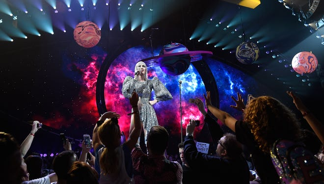 "Katy Perry brings her ""Witness"" tour to the BMO Harris Bradley Center Monday."
